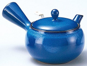Yamakiikai pottery Blue Kyusu(Japanese teapot) with a strainer 260cc GM937