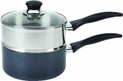 T-fal A90996 Specialty Stainless Steel Double Boiler with Phenolic Handle Cookware, 2.8l, Silver by T-fal