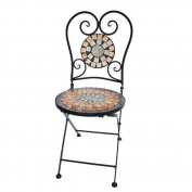 Art Deco Home - Retro Mosaic Chair Metalic 91x50 cm