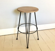 Brunel fixed height kitchen & bar stool - Pewter