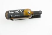 VintageView VS-K Vino Styx 1 Bottle Wall Mounted Metal Wine Rack in Satin Black