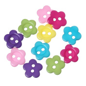 "DoreenBeads Resin Sewing Button Scrapbooking Flower Mixed Two Holes 10.5mm( 3/8"") x 10.0mm( 3/8""), 300 PCs 2015 new"