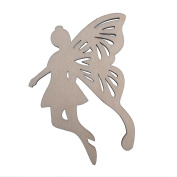 RayLineDo Set of 10pcs Wood Fairy Wings Shape Ornaments Embellishments Tags with String
