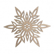 RayLineDo 10pcs Snowflake Hollow Design D Wooden Christmas Ornaments Embellishments with String