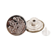 10 Pcs 20mm Vintage Buttons Replacement Tack Button for Jean Jacket Suspenders, 7#