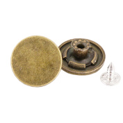 10 Pcs 20mm Vintage Buttons Replacement Tack Button for Jean Jacket Suspenders, 11#
