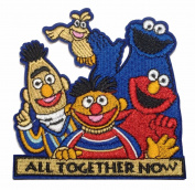 Sesame Street Group All Together Now Embroidered Iron On Patch