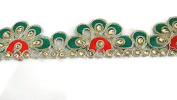 Kundan Lace,Glass Beads,Stone Work Embellishment Border