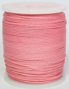 Blue Bird Brand - 0.5mm Pink Polished Braided Cotton Cord. 100 metres per spool. Includes 1 spool.