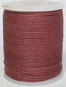 Blue Bird Brand - 0.5mm Burgundy Polished Braided Cotton Cord. 100 metres per spool. Includes 1 spool.