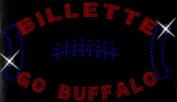 Buffalo Football Billette Rhinestone Iron on Transfer