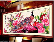 Peacock DIY Embroidery Kit Precise Printed Needlework Cross stitch Sewing Kit