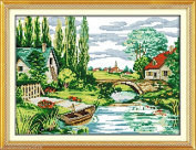 Countryside Embroidery Kit Precise Printed Needlework Cross stitch