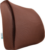 PharMeDoc Lumbar Support for Office Chair & Car Seat - Orthopaedic Memory Foam Seat Cushion with Adjustable Strap includes 3D Mesh Cover - Ergonomic Lumbar Pillow Design - 13.5 x 34cm x 10cm