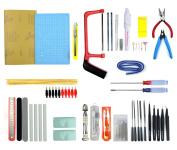 LENX Professional 56 PCS Gundam Modeller Basic Tools Craft Set For Car Model Assemble Building