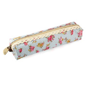 Oksale® Flower Print Lace Pencil Case Office Stationery School Storage Writting Makeup Cosmetic Pen Bag
