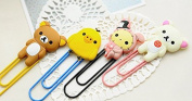JunShop Giant Cartoon Head Paperclip Bookmarks folder Financial Documents Classified Storage