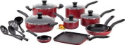 NEW! T-fal Initiatives Nonstick Inside and Out 18-Piece Cookware Set,