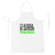 I'D RATHER BE DRINKING MARGARITA Funny Novelty New Apron h86b