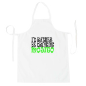 I'D RATHER BE DRINKING MOJITO Funny Novelty New Apron h83b