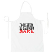 I'D RATHER BE DRINKING SAKE Funny Novelty New Apron i3b