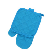 XGMSD Baking Oven Mitts Insulation Anti-scald Mat Suits And Gloves Multicolor Long 25cm Width 17cm Set Of 10.,Blue