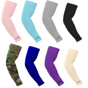 Kmool UV Protection, Compression & Cooling Arm Sleeves for Cycling/Golf/Basketball/ Other Sports (8 pairs)
