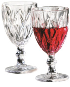 Circleware Treasure White Red Wine Clear Drinking Glasses, Set of 4 Goblets, 410ml, Limited Edition Glassware Drinkware Cups