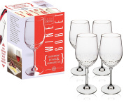 Kitchen Gizmo - Unbreakable Wine Glasses With Hammered Finish 100% Tritan - Set of 4, 300ml Goblets.