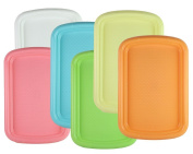 Chef's 1st Choice Durable Plastic Rectangular Serving Tray / Fast Food Plate, 38cm x 25cm