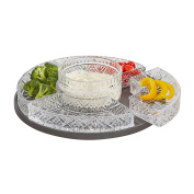 Elegant Crystal Lazy Susan, Beautiful Revolving Appetiser Display, Serving, Chip and Dip Set, Party