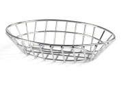 Fixture Displays Oval Wire Steel Basket Chrome Anodized For Restaurants Cafes 119966-FBA