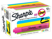 Sharpie Tank Highlighters, Chisel Tip, Assorted Colours, 12-Count