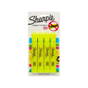 Sharpie Accent Tank Highlighters, Chisel Tip, Fluorescent Yellow, 4-Count