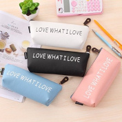Katoot@ 4pcs Korean stationery Cute school pencil case for girls Kawaii colourful PU leather pencil bags storage pouch gift school supplies