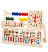 AutumnFall NEW Children Baby Kids Learning Developmental Versatile Flap Abacus Wooden Toys