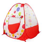 Leegor 71cm71cm90cm Pop up Hexagon Polka Dot Children Ball Play Tent Play House Carry Tote Toy Birthday Present