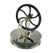 Lieomo Black Low Temperature Stirling Engine Education Toy Model KM025