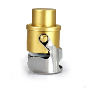 Champagne Stopper, Stainless Steel Champagne Saver Bottle Stopper with Built-in Pump, Gold