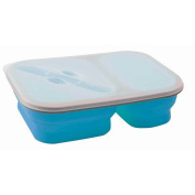 Brunner Foldable Silicone Snack Box With Fork (1.6 Litres)