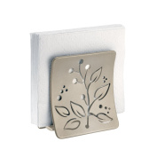 mDesign Leaf Design Napkin Holder for Kitchen Countertops, Table - Satin