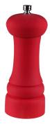 Red Matte Salt and Pepper Burr Grinder with Ceramic Grinder Head