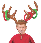 Fashionclubs Christmas Party Inflatable Reindeer Antler Hat Ring Toss Game