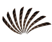 Huntingdoor 30Pcs 10cm Archery Natural Turkey Feathers Arrows Left Wing Fletching Drop-shaped