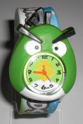 Angry Bird Toy Figure Slap Watch - Green Face
