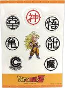 Sticker - Dragon Ball Z - SS3 Goku & Symbols Set Toys Anime Licenced ge55521
