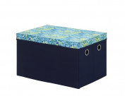 Bintopia Storage Trunk with Removable Lid, Blue/Green