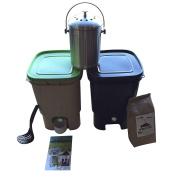 Vermikashi Bokashi Compost Kit Twin Pack Deluxe Model