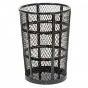 Outdoor Metal Trash Container Black, 181.7l
