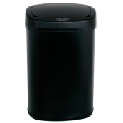 Trash Can Black 49.2l Touch Free Sensor Automatic Storage Organisation Touchless Home Kitchen Office